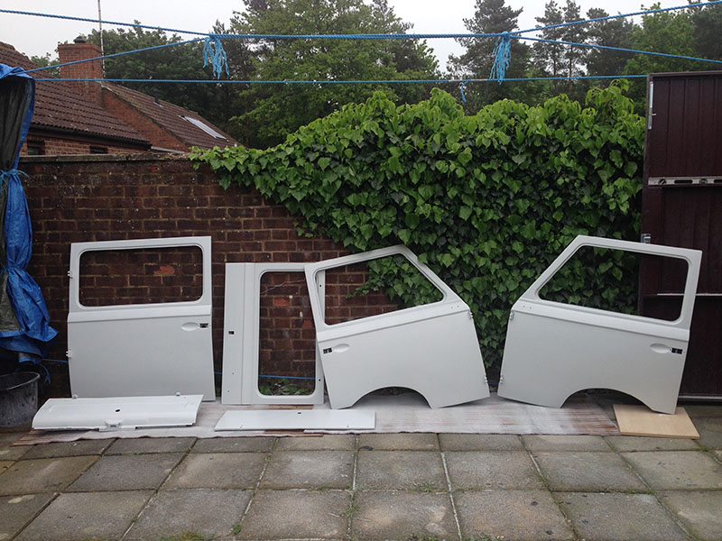 Doors ready to fit
